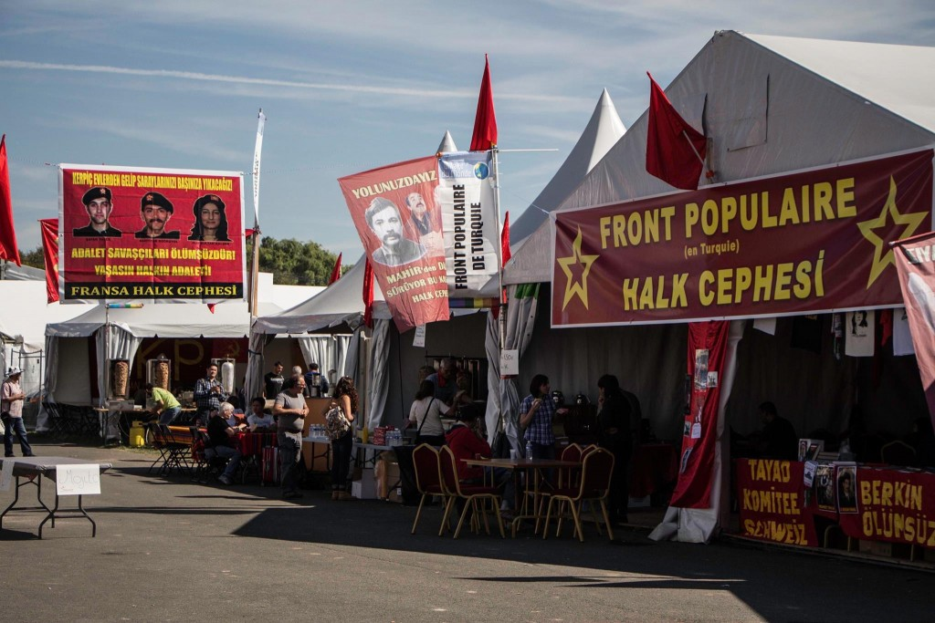 Stand des communistes turcs - Crédits photo : Leïla Frat.