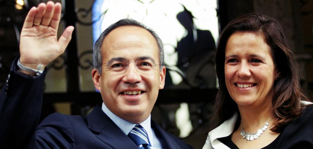 L'ex-première dame Margarita Zavala avec son époux, Felipe Calderón Hinojosa. (© clase.in)